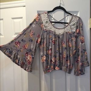 About a girl floral top